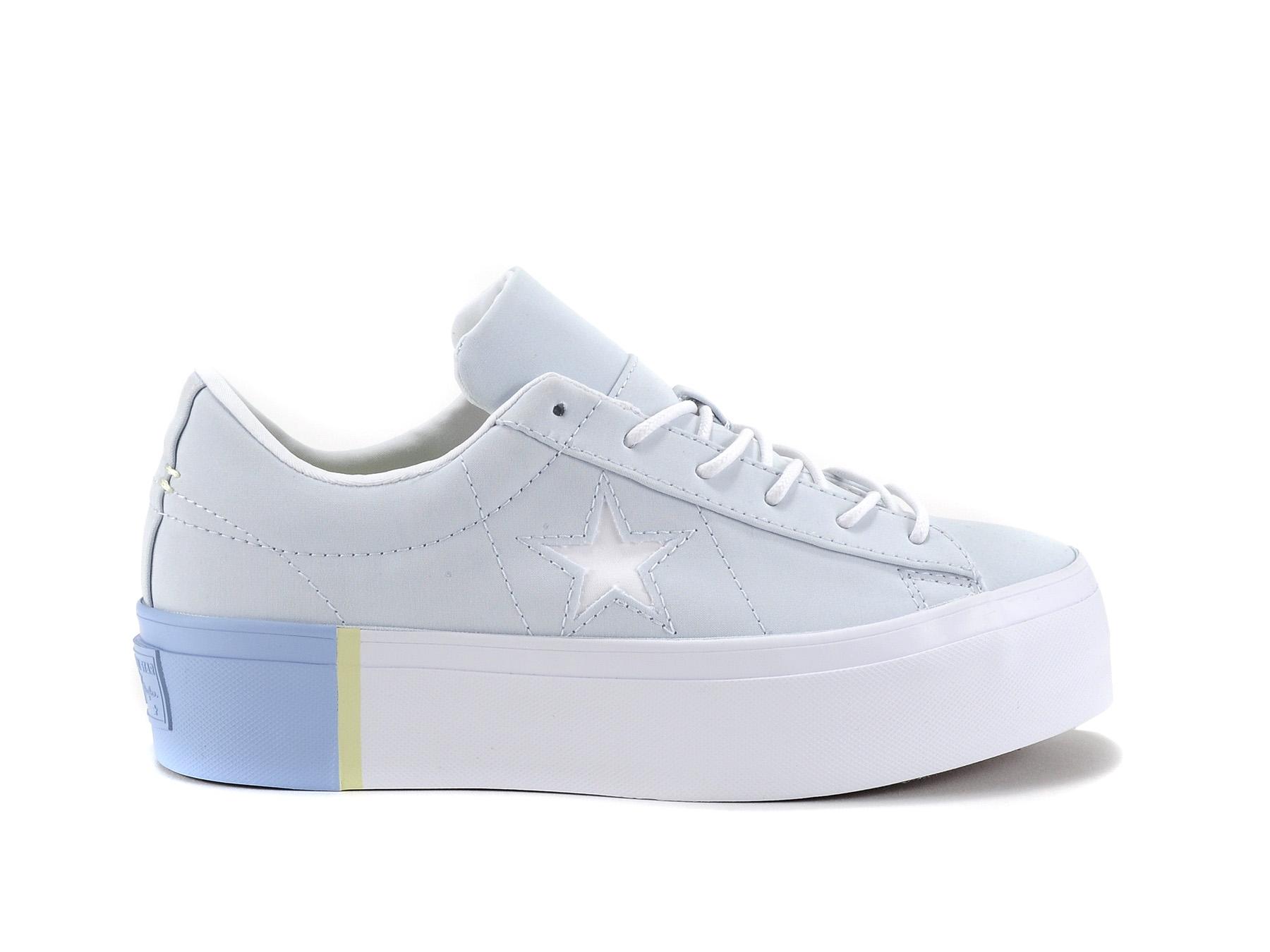 2converse one star blu
